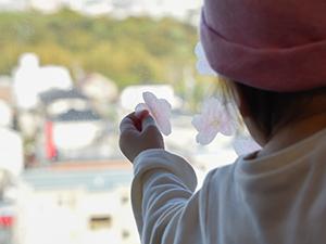 地域の総合病院の小児科さんに桜が